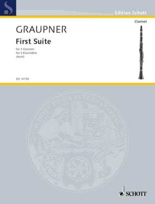 First Suite Christoph Graupner Partition Clarinette - laflutedepan