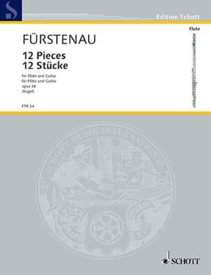 12 Stücke - Flöte Gitarre Kaspar Fürstenau Partition laflutedepan