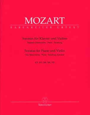 Sonates de Mannheim, Paris et Salzbourg MOZART Partition laflutedepan
