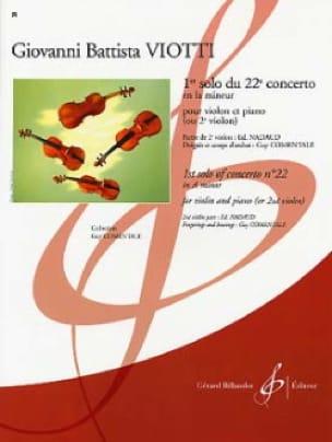 1er Solo du Concerto n° 22 - VIOTTI - Partition - laflutedepan.com