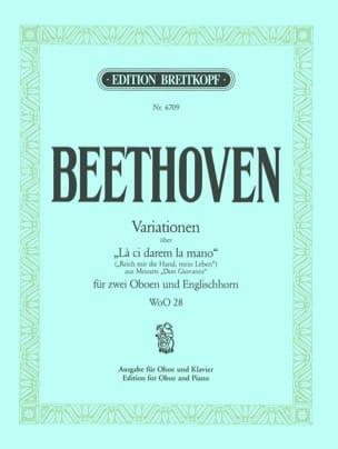 Variationen über La ci darem la mano WoO 28 - Oboe Klavier laflutedepan