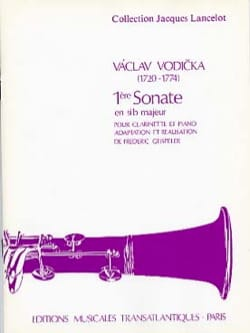 Sonate n° 1 en sib majeur Vaclav Vodicka Partition laflutedepan