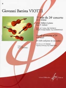 1er Solo du Concerto n° 24 VIOTTI Partition Violon - laflutedepan