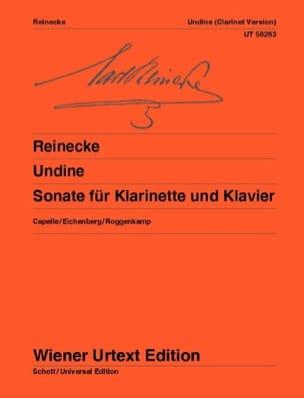 Undine Op.167 Carl Reinecke Partition Clarinette - laflutedepan