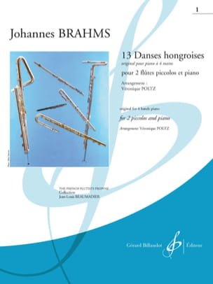 13 danses hongroises - Cahier 1 BRAHMS Partition laflutedepan