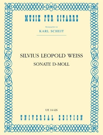 Sonate d-moll -Gitarre - Silvius Leopold Weiss - laflutedepan.com