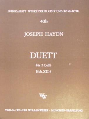 Duo Hob. 12:4 - HAYDN - Partition - Violoncelle - laflutedepan.com