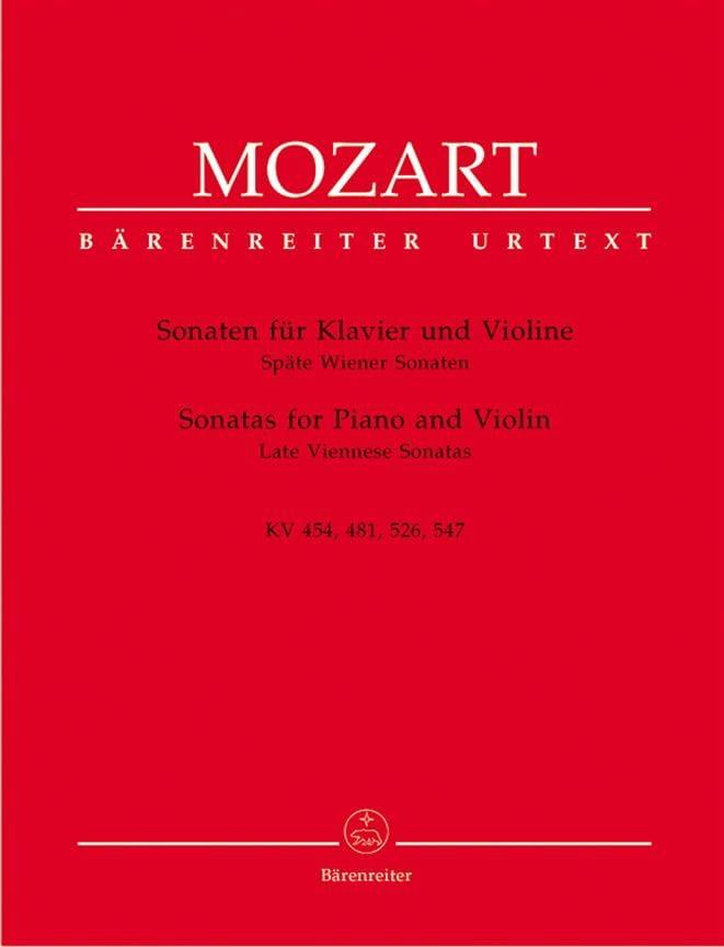 Sonaten - Späte Wiener Sonaten - MOZART - Partition - laflutedepan.com