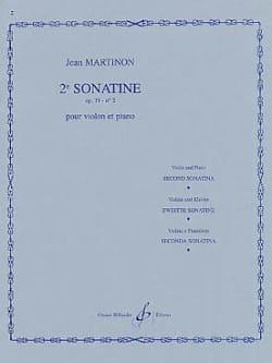 Sonatine n° 2, op. 19 n° 2 Jean Martinon Partition laflutedepan