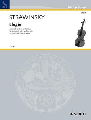Elégie STRAVINSKY Partition Violon - laflutedepan