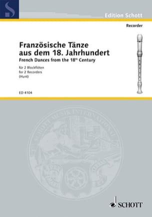 Französische Tänze - 2 Blockflöten Partition laflutedepan