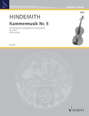 Kammermusik Nr. 5, op. 36 n° 4 HINDEMITH Partition laflutedepan