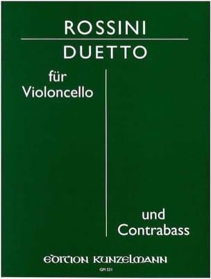 Duetto - Cello contrabass ROSSINI Partition 0 - laflutedepan