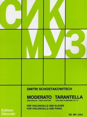 Moderato / Tarantella op. 97 CHOSTAKOVITCH Partition laflutedepan