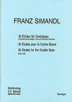 30 Etüden für Kontrabass Franz Simandl Partition laflutedepan