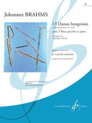 13 danses hongroises - Cahier 2 BRAHMS Partition Trios - laflutedepan