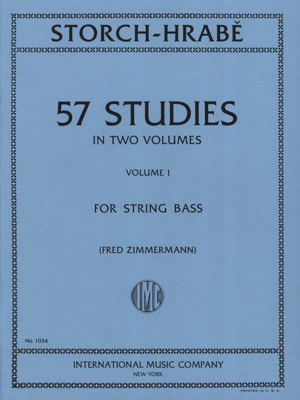 57 Studies, Volume 1 - String bass - laflutedepan.com