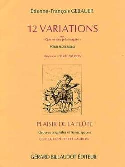 12 Variations Etienne-François Gebauer Partition laflutedepan