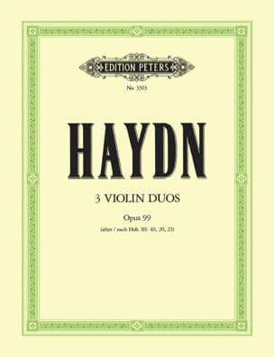 3 Duos op. 99 HAYDN Partition Violon - laflutedepan