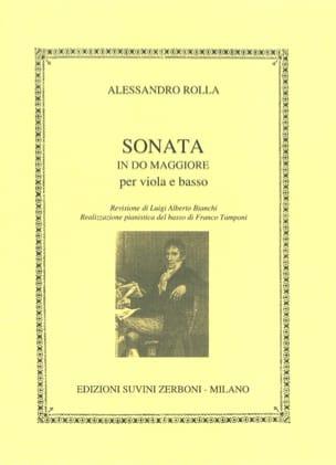 Sonata in do maggiore Alessandro Rolla Partition Alto - laflutedepan