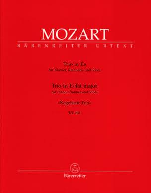 Trio des Quilles KV 498 Mi Bémol Majeur - Piano clarinette alto - laflutedepan.com