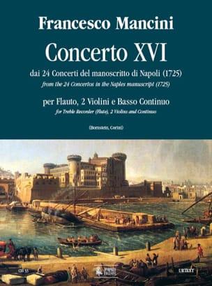 Concerto 16 -flauto 2 violini e bc Francesco Mancini laflutedepan