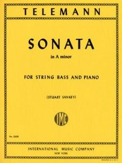 Sonata in A minor - String bass TELEMANN Partition laflutedepan