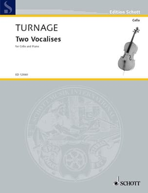 2 Vocalises Mark-Anthony Turnage Partition Violoncelle - laflutedepan