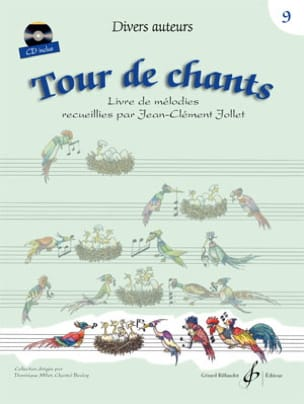 Tour de Chants Volume 9 Jean-Clément Jollet Partition laflutedepan