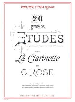 20 Grandes Etudes Cyrille Rose Partition Clarinette - laflutedepan