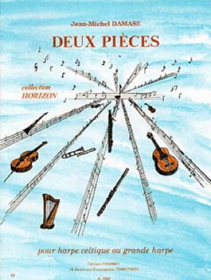 2 Pièces - Jean-Michel Damase - Partition - Harpe - laflutedepan.com