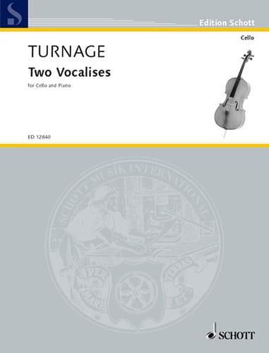 2 Vocalises - Mark-Anthony Turnage - Partition - laflutedepan.com