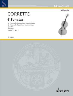 6 Sonates Op. 20 Volume 1 CORRETTE Partition laflutedepan