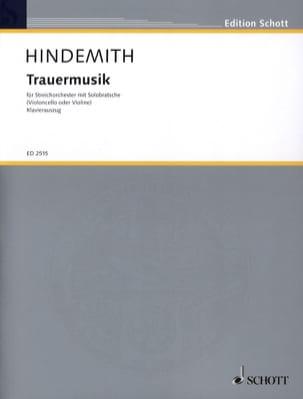 Trauermusik -Viola Klavier HINDEMITH Partition Alto - laflutedepan