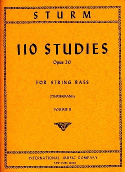 110 Studies op. 20, Volume 2 - String bass Wilhelm Sturm laflutedepan