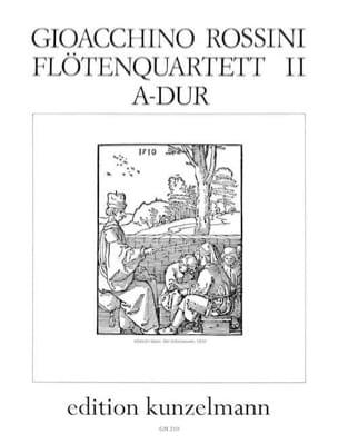 Flötenquartett Nr. 2 A-Dur -Stimmen ROSSINI Partition laflutedepan