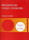 Preliminary violin exercices Adam Carse Partition laflutedepan