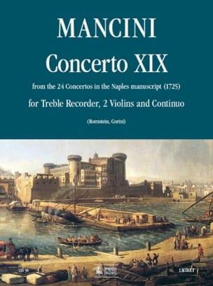 Concerto 19 -flauto 2 violini e bc Francesco Mancini laflutedepan