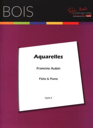 Aquarelles Francine Aubin Partition Flûte traversière - laflutedepan