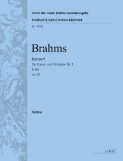 Concerto pour piano n° 2 - Conducteur BRAHMS Partition laflutedepan