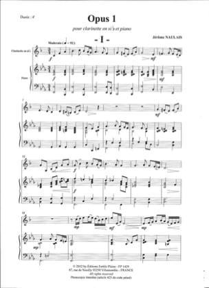Opus 1 Naulais Jérôme Partition Clarinette - laflutedepan