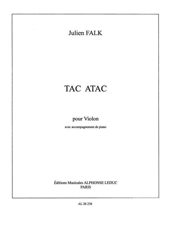 Tac Atac - Julien Falk - Partition - Violon - laflutedepan.com