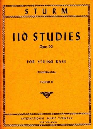 110 Studies op. 20, Volume 2 - String bass - laflutedepan.com