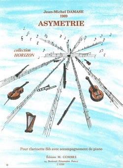 Asymetrie Jean-Michel Damase Partition Clarinette - laflutedepan