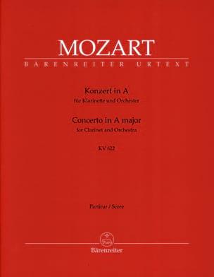 Concerto pour clarinette en La Majeur KV 622 - Conducteur laflutedepan