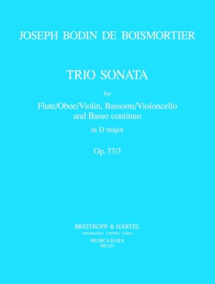Trio Sonata D major op. 37 n° 3 -Flute Bassoon Bc laflutedepan