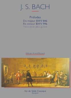 Préludes BWV 846 et 996 BACH Partition Guitare - laflutedepan