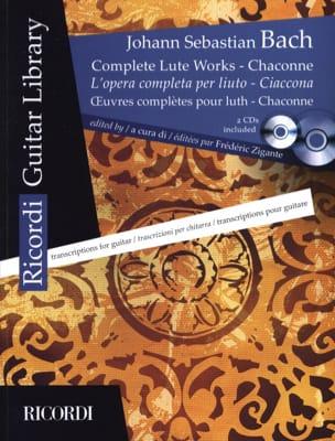 Oeuvres Complètes Pour Luth - Chaconne - 2 CD Inclus BACH laflutedepan