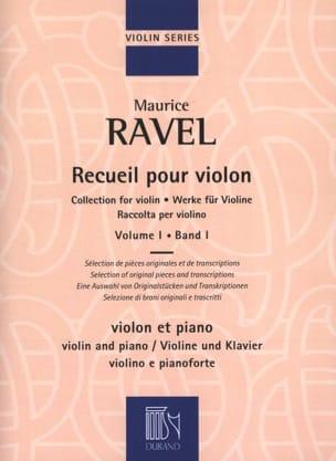 Recueil pour violon - Volume 1 RAVEL Partition Violon - laflutedepan