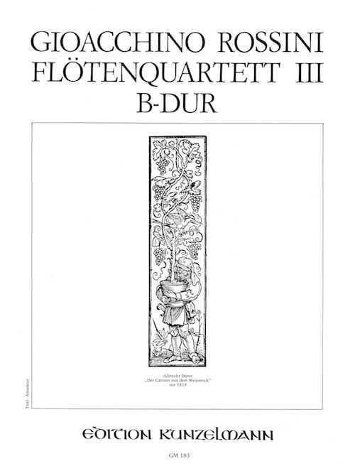 Flötenquartett Nr. 3 B-Dur -Stimmen - ROSSINI - laflutedepan.com